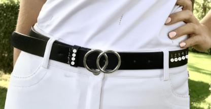 Zelf ontwerpen: Zwarte riem circle